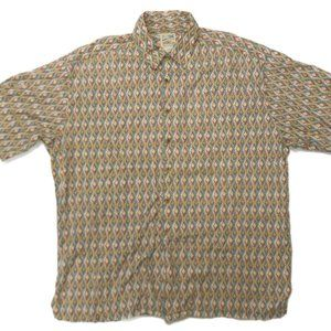 Travelsmith Mens Button Front Shirt XL S/S